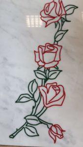 rosa colorata